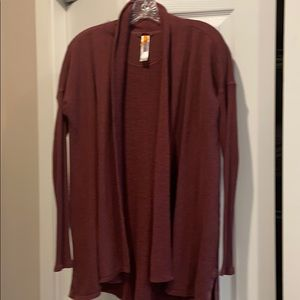 Lucy open cardigan with ribbed sleeves